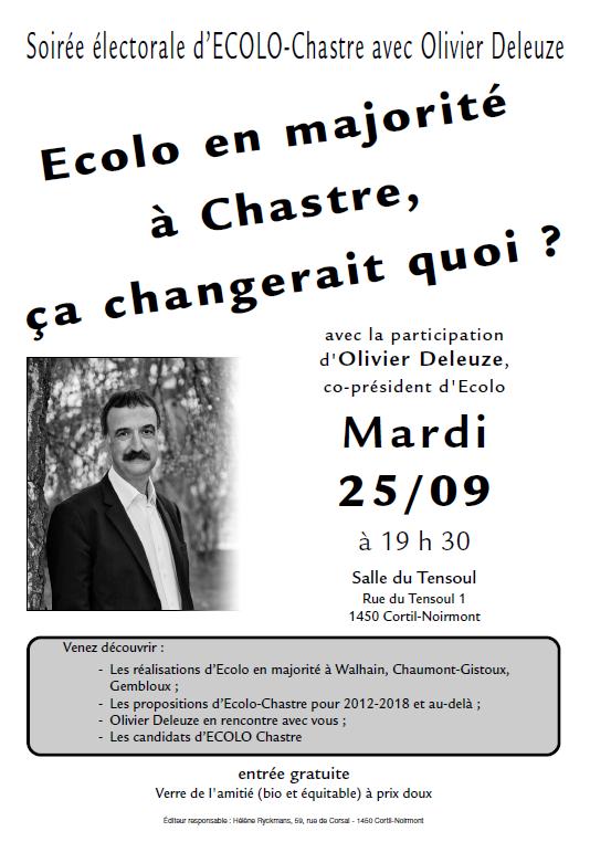 Ecolo Chastre invite Olivier Deleuze