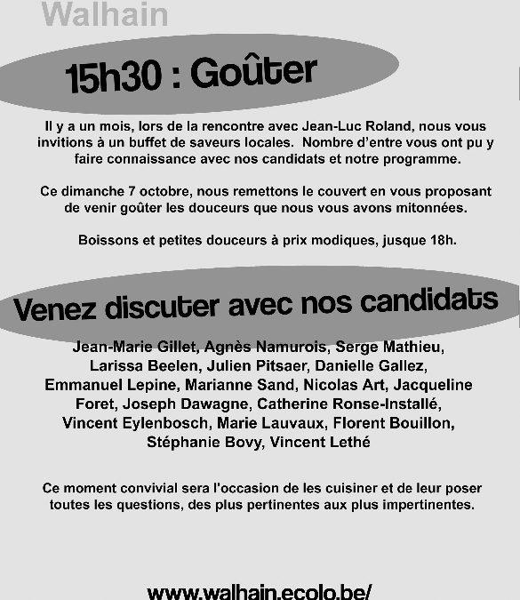 «Goûtez ECOLO» ce 7 octobre à 15h30, à la salle Jadinon